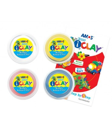 Set I-Clay 4 colores 18Gr