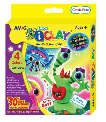 Set I-Clay 4 colores Fluorescentes