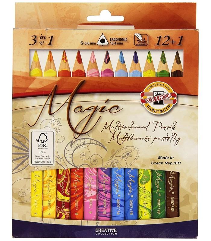 Set de lápices multicolor koh-i-noor 12+1