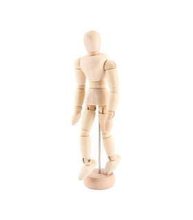 "Maniquí masculino articulado 16"""" 40,64cm"