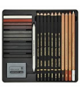 Set de Dibujo Profesional Gioconda Art Set 8899 Koh-I-Noor 24 unidades