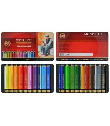 Estuche metálico lápices acuerables 72 u. MONDELUZ Koh-I-Noor 3727