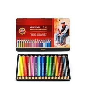 Estuche de 36 lápices acuareables Mondeluz Koh-i-Noor 3725