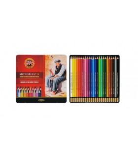 Estuche de 24 lápices acuareables Mondeluz Koh-i-Noor 3724