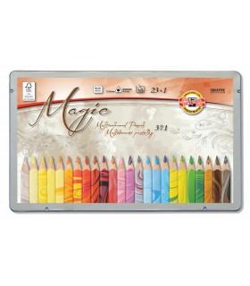 Estuche metálico lápices Koh-i-Noor 24 unidades 3408