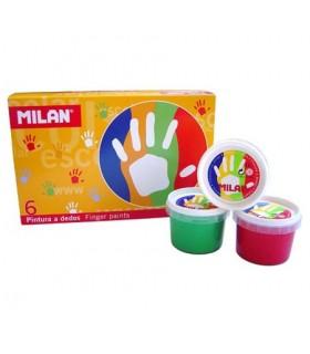 Set Milan Pintura de dedos 6 unidades