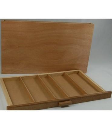 Caja madera vacía para pasteles y pinceles 13163