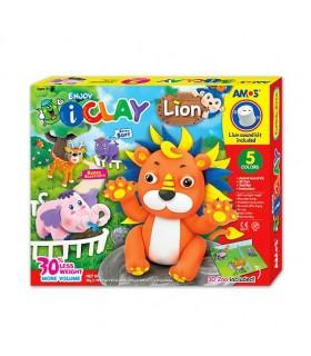 Set I-Clay 5 colores mascotas Leon