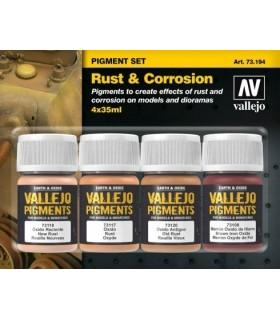 Set pigmentos Óxido y corrosión Acrílicos Vallejo
