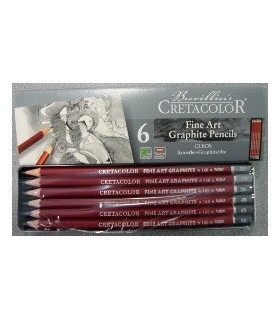 Estuche metálico Cretacolor Fine Art Graphite Pencils 6u. 160 2