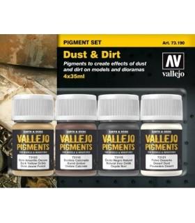 Set pigmentos Acrílicos Vallejo 73190 Polvo y Suciedad