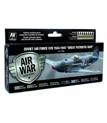 Set Model Air 71198 soviet air force VVS de 1943 a 1945 acrilicos vallejo