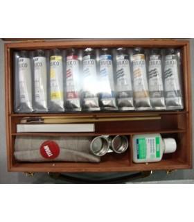 Caja de madera acrílico Titan Extra fino 10