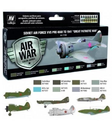 Set Model Air 71196 soviet air force VVS PRE-WAR 1941 acrilicos vallejo