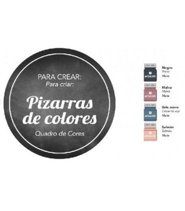 Acualux capsulas creativas pizarras de colores