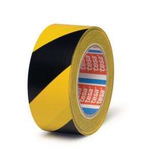 Black / yellow tesa floor marking tape 4169 33mX50mm