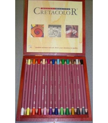 Caja madera Cretacolor Karmina 24 unidades 270 40