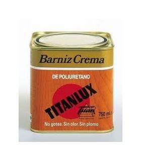 Barniz Tinte Crema Poliuretano Titanlux Satinado 750ml.