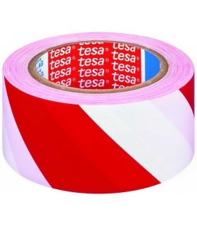 White-red marking tape tesa 60760 33mX50mm