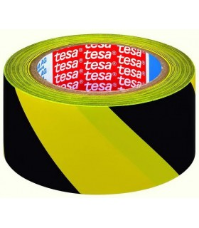 Tesa 60760 33mX50mm yellow-black marking tape