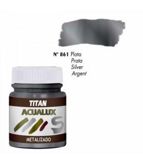Acualux métal argent satiné nº 861 Titan
