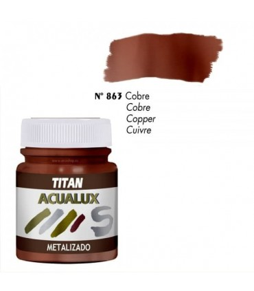 Acualux metalizado satinado Cobre nº 863 Titan