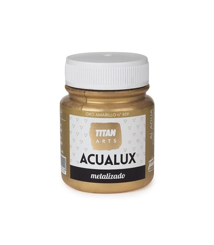 Acualux metalizado satinado Oro Amarillo nº 859 Titan