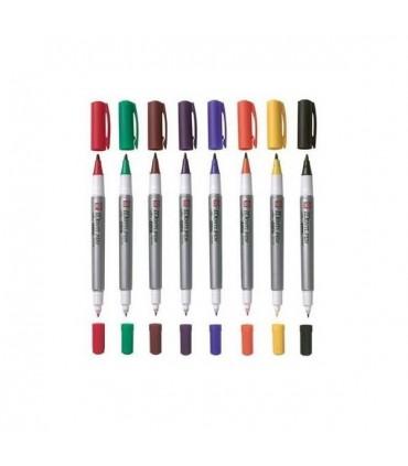Rotulador Sakura Identi-Pen de tinta permanente de doble punta