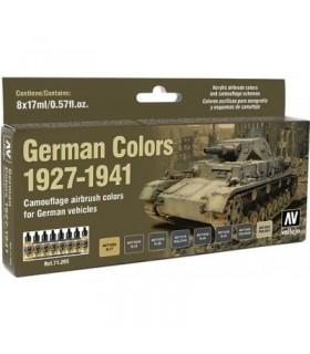 Set Modèle air couleurs allemandes 1927-1941 71205 vallejo