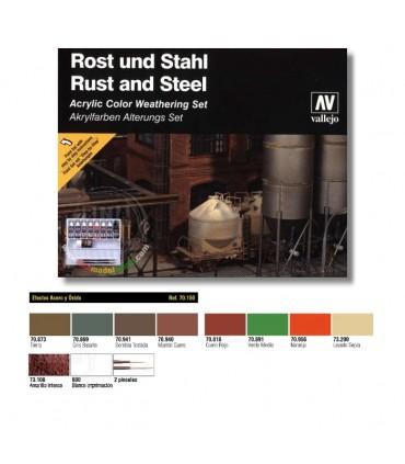 Set Model Colors Efectos de Acero y Óxido 70150