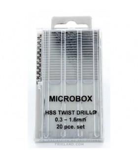 Conjunto de 20 Minibrocas, 0,3-1,6 mm