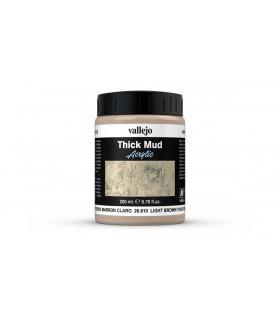 Vallejo diorama effetti fango denso marrone chiaro 26810 200ml