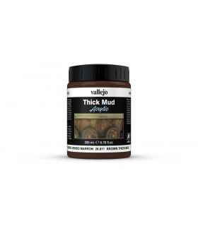 Vallejo diorama effects dense brown clay 26811 200ml