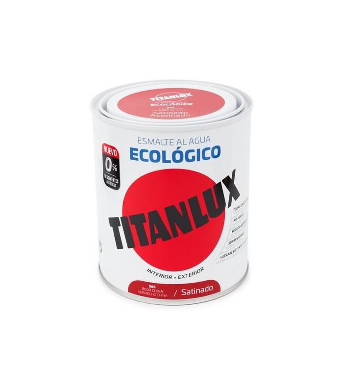 ESMALTE ECOLÓGICO AL AGUA TITANLUX SATINADO 750ML