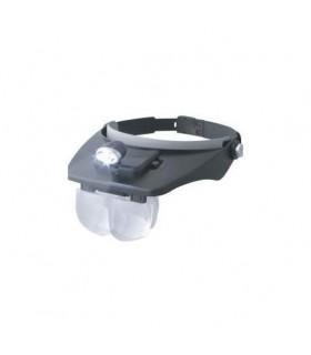 Kopflupe mit LED und verschiedenen Vergrößerungen 19302 Dismoer