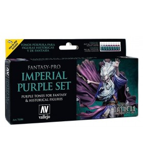 Imposta Vallejo Fantasy-Pro 8 u. 17 ml. Imperial Purple Set 74104