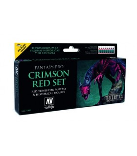 Set Vallejo Fantasy-Pro 8 u. 17 ml. Crimson Red Set 74103
