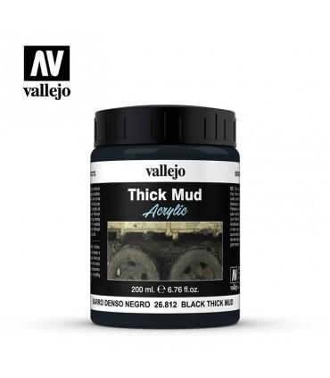 Diorama effects barro denso negro 200ml Vallejo 26812