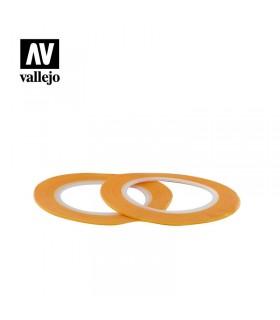 Cinta de enmascarar 1mmx18m Vallejo 2u.