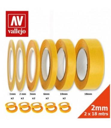 Cinta de enmascarar 6mmx18m Vallejo 2u.