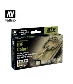 Set Vallejo Model Air 6 u. (17 ml.) IDF Colors 71210