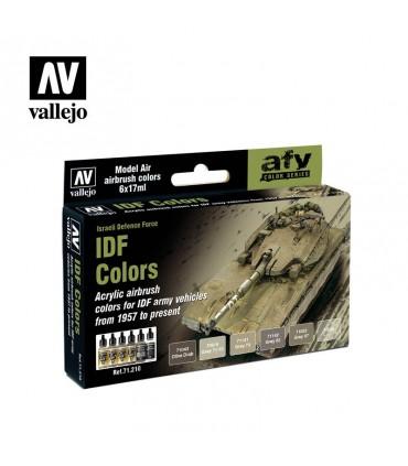 Set Vallejo Model Air 6 u. (17 ml.) IDF Colors 71210