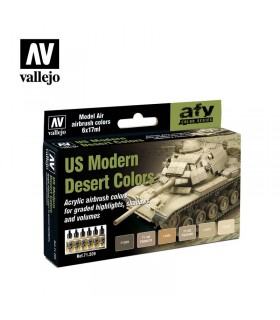 Conjunto Vallejo Model Air 6 u. (17 ml.) US Modern Desert Colors 71209