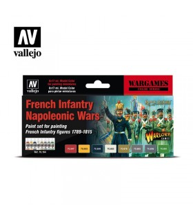 Set Vallejo Model Color 8 u. (17 ml.) French Infantry Napoleonic Wars