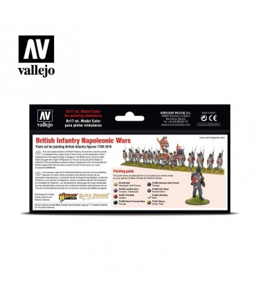 Set Vallejo Model Color 8 u. (17 ml.) British Infantry Napoleonic Wars