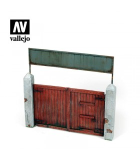 Vallejo Scenics wooden gate