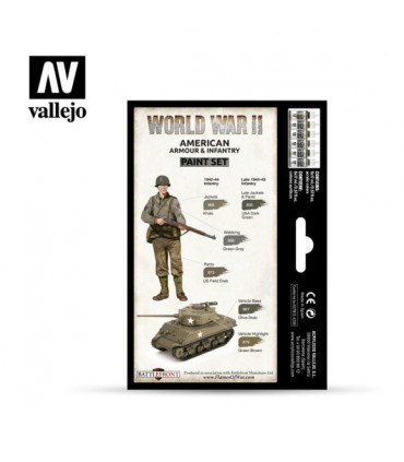 Set WWII American Armour & Infantry 70203