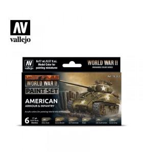 Conjunto da Segunda Guerra Mundial da American Armor & Infantaria 70203