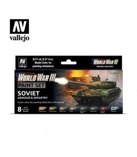Imposta l'armatura sovietica della Seconda Guerra Mondiale e la fanteria Vallejo 70221