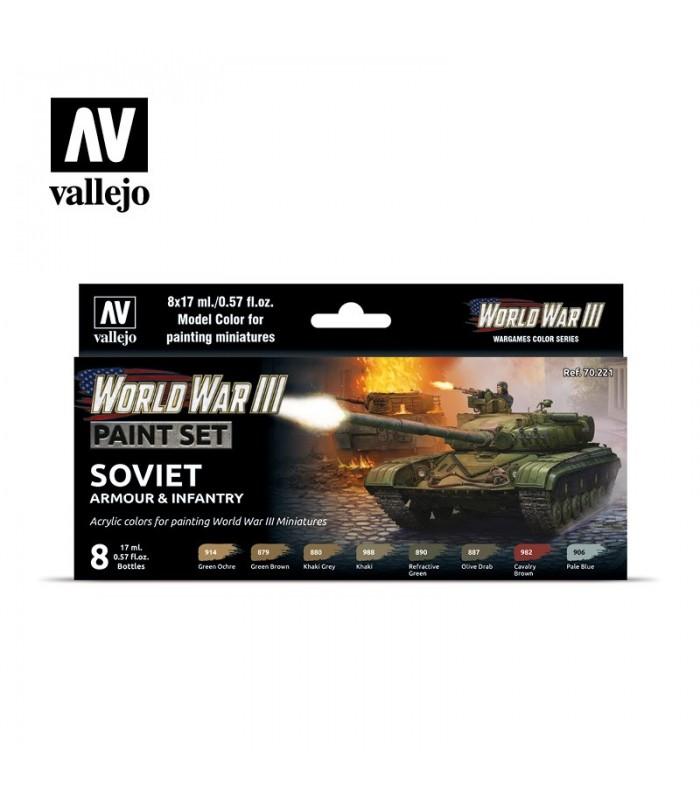Set WWIII Soviet Armour & Infantry Vallejo 70221